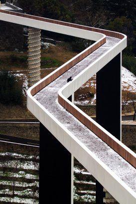 Pedestrian Bridge - Ribeira de Carpinteira by JLCG Arquitectos