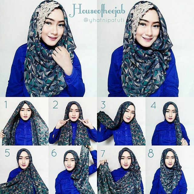 Gorgeous Printed Hijab Tutorial