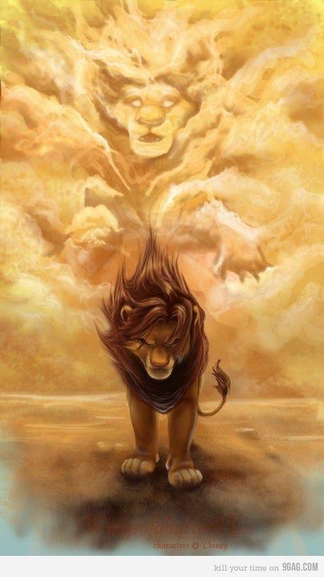 Simba : Et rien ne nous séparera jamais ? Mufasa : Simba, je vais te raconter ce que me disait mon père. Regarde le ciel. Les rois des siècles passés nous contemplent du haut des étoiles.