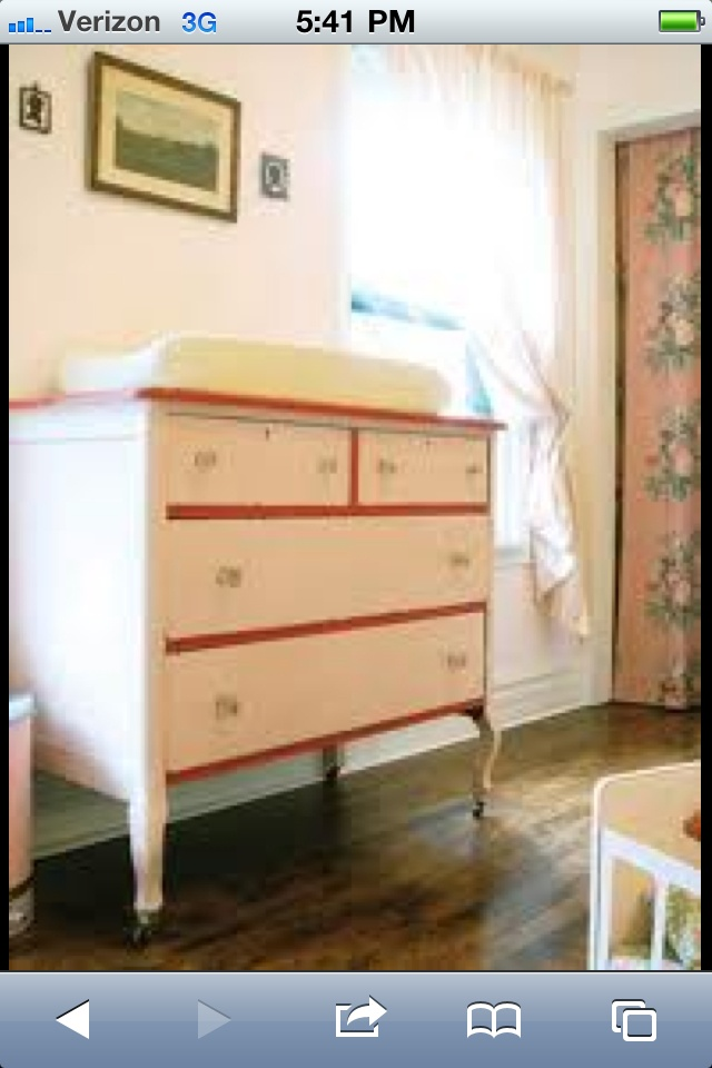 {the Stroller Coaster}: {vintage Changing Table}