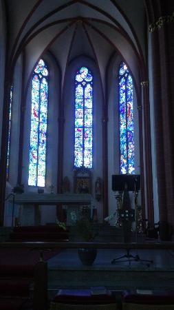 St. Stephen's, Mainz, Germany Beautiful blue stained glass windows