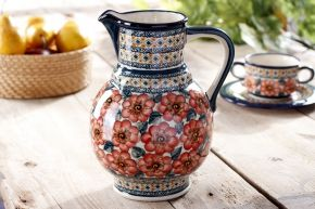 Dzbanek ceramiczny na wodę GU-40 DEK. 124 ART. Bolesławiec 1,8 l (drugi gatunek)