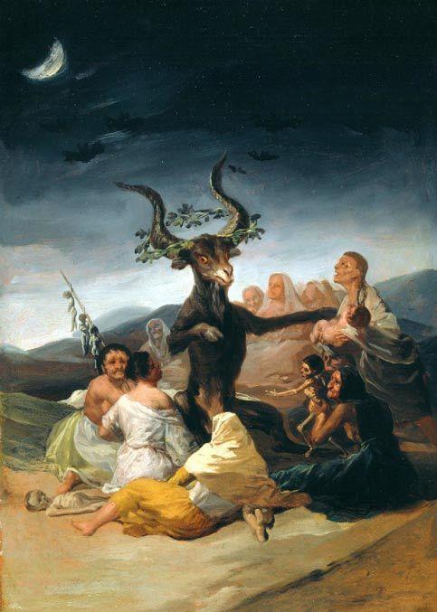 El aquelarre, pintura de Francisco de Goya, Museo Lázaro Galdiano, Madrid