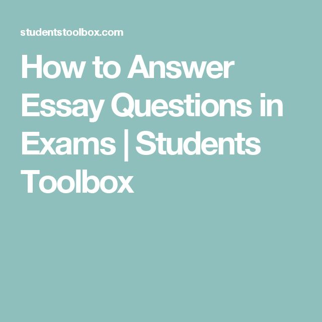 How to Answer Essay Questions in Exams | Students Toolbox