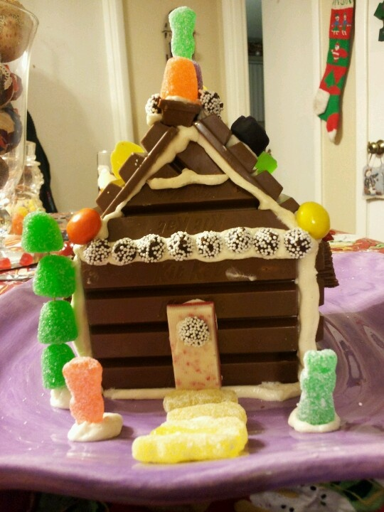 "Kit kat house complete with ""yellow brick road"", angry"