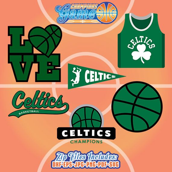 Boston Celtics SVG, Celtics cortar archivo, monograma de Boston Celtics, descarga instantánea de baloncesto, CG002