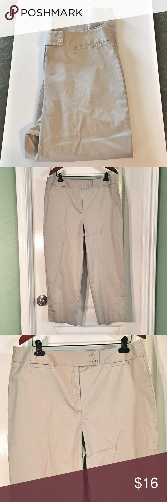 """Plus Size Talbots Khaki Capris Plus Size Talbots Khaki Capris ~ Size 16 Stretch ~ 95% Cotton & 5% Spandex ~ Waist is approximately 19"""" ~ Inseam is approximately 26"""" Talbots Pants Capris"""