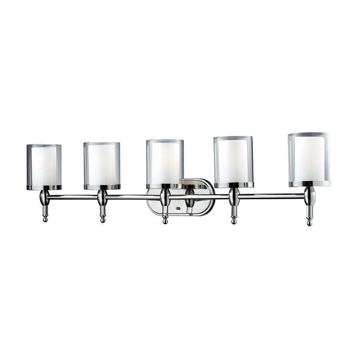 Lowes - Z-Lite 1908-5V 5 Light Argenta Bathroom Light, Chrome, $390