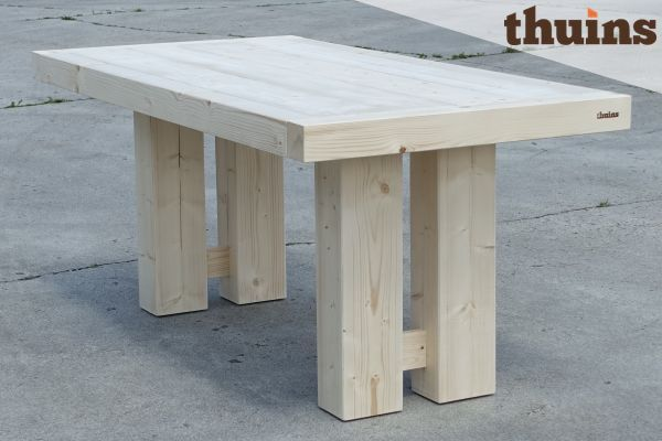Thor tafel 180x90, nieuw steigerhout onbehandeld