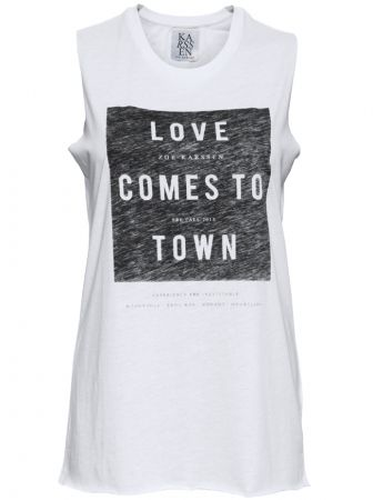 Love Comes to Town Tank - White