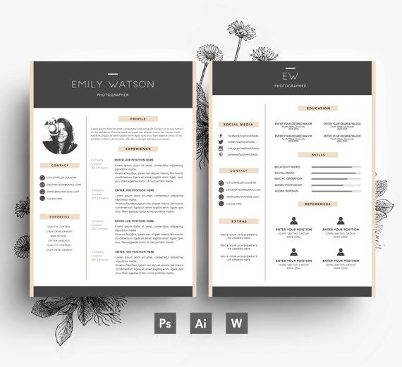 1000  ideas about cv template on pinterest
