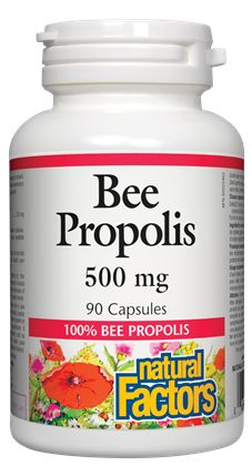 Natural Factor's Bee Proplis  #inflammation #minerals #protein #supplements #vitamins #herbs #organic #glutenfree #sangsters #newchapter