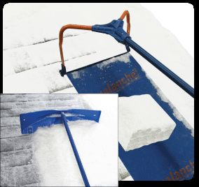 Avalanche Roof Snow Removal System - Snow Removal Equipment, Snow Roof Rake for better Roof Maintenance Made in USA #madeinusa