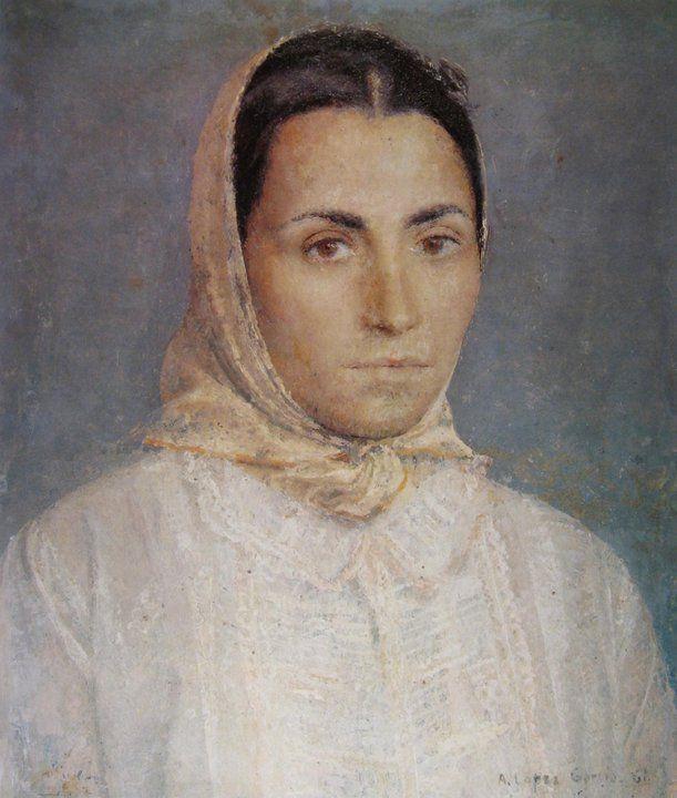 maria ritratto - Antonio Lopez Garcia