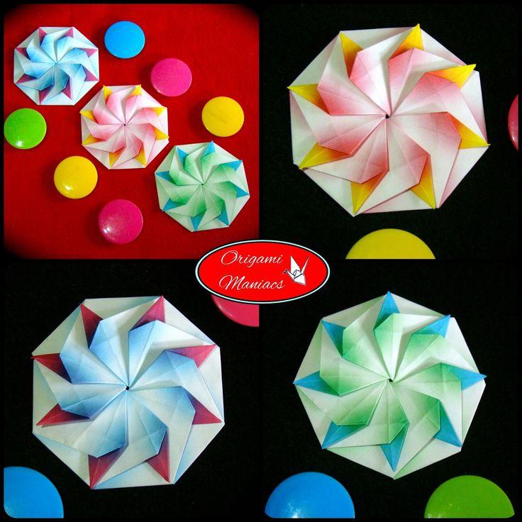 Origami Octagonal Box Diagram
