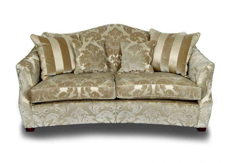 Gold Striped Sofa