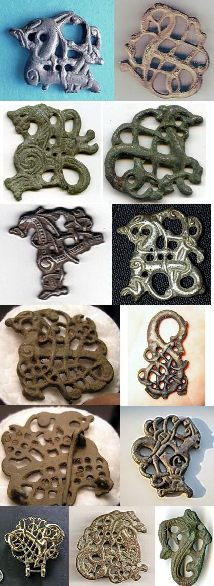 Brooches of the Viking era Urnes Style - not exactly Celtic, but love the variety of lines/curves.