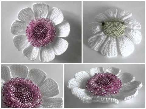Цветы крючком от kseniyanik. - YouTube