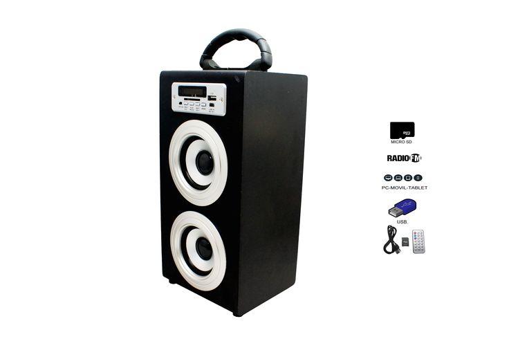 Altavoz Caja Portátil con Bluetooth, Radio, SD y USB - http://complementoideal.com/producto/altavoz-con-bluetooth-radio-sd-y-usb-modelo-9200/  - Altavoz con Bluetooth, Radio, SD y USB  Altavoz con Bluetooth con el que podrás escuchar toda tu música sin necesidad de cables y en cualquier lugar, conecta todos tus dispositivos al Altavoz con Bluetooth fácilmente y comienza a divertirte. Compatible con iPhone, iPad, Móviles Android, Wi...