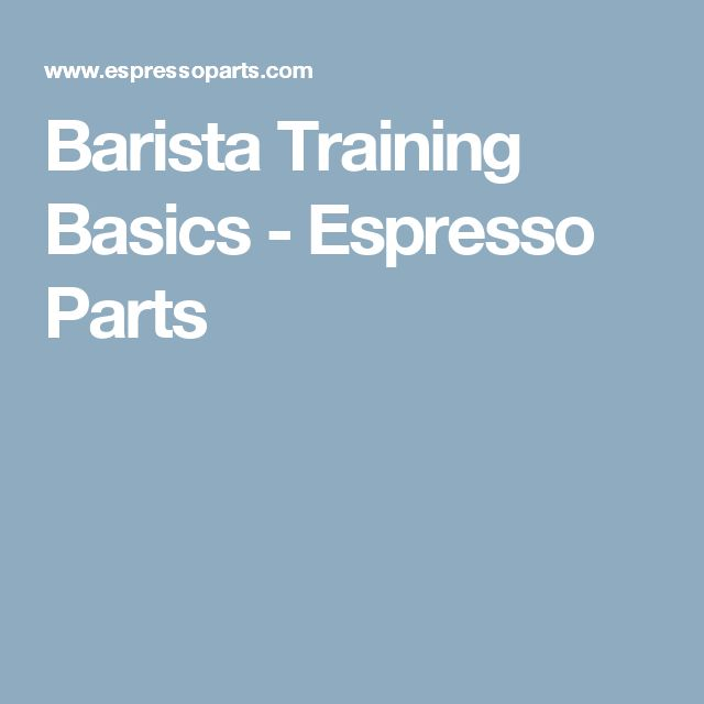Barista Training Basics  - Espresso Parts