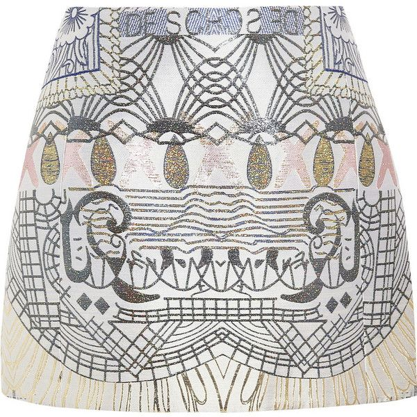 Mary Katrantzou Jacquard A-line skirt (24.065.055 IDR) found on Polyvore