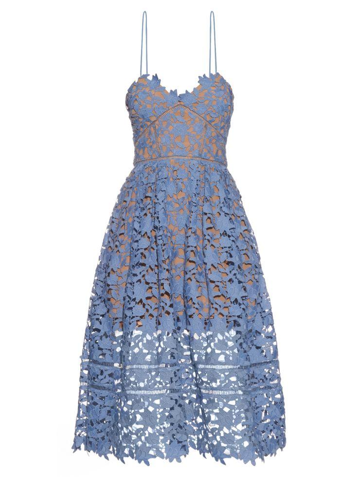 SELF-PORTRAIT Azaelea lace midi dress