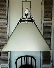 GIANT HUGE INDUSTRIAL VINTAGE ANTIQUE RUSTIC PENDANT DESIGN  LAMP LIGHT FIXTURE