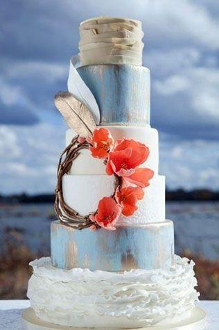 свадебные торты в стиле бохо