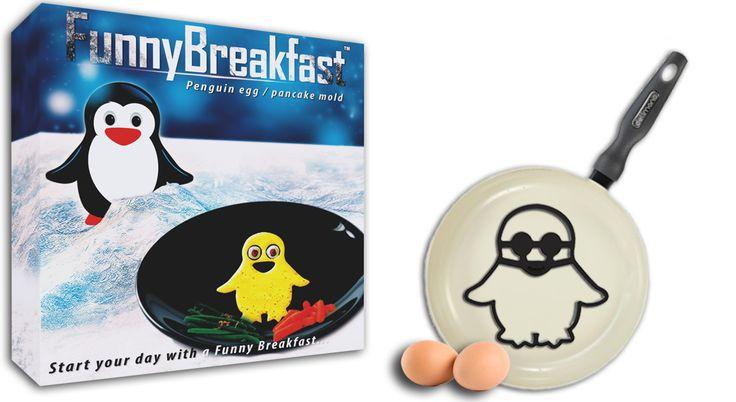 Penguin shape egg - pancake mold