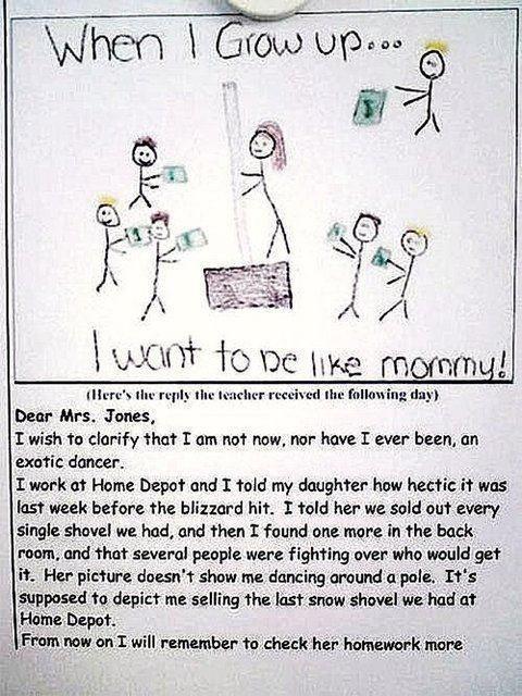 Parents... check the homework LMAO