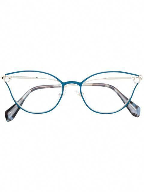fe06a3b0cd Shop Miu Miu Eyewear cat-eye shaped glasses  MiuMiu