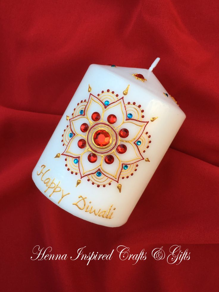 Happy Diwali, Diwali Candle, Indian Festival, Diwali Gift, Diwali Decor, Diwali Decoration, Festival of Lights, Hindu Festivals, Henna Candl by HennaCraftsbyPramila on Etsy https://www.etsy.com/ca/listing/483477291/happy-diwali-diwali-candle-indian