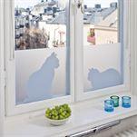 Ella & Ceasar window screen film - 34x98 cm - Siluett Frost