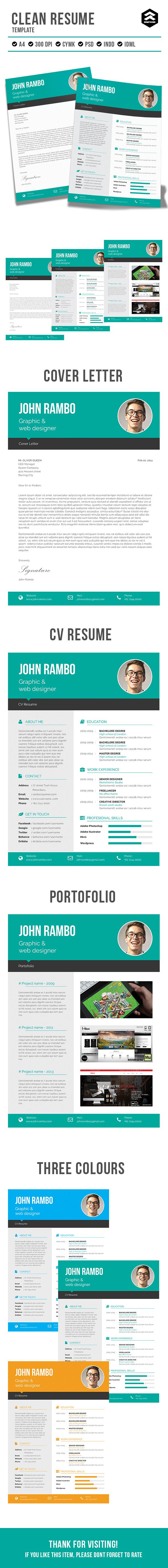 Clean CV resume by rometheme