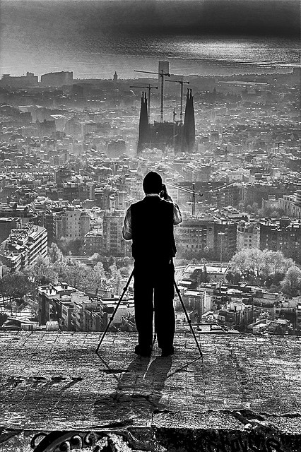 Barcelona landscape. Unknown photographer. Catalonia | Europe