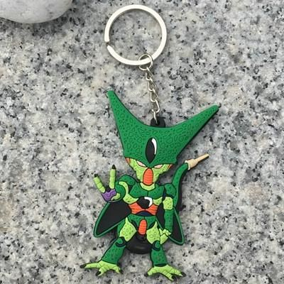 1Pcs/Lot Eevee PVC Keychain Figurines Dragon Ball Z Dragonball Figure Son Goku Super Saiyan Dbz Toys Budokai Tenkaichi 3