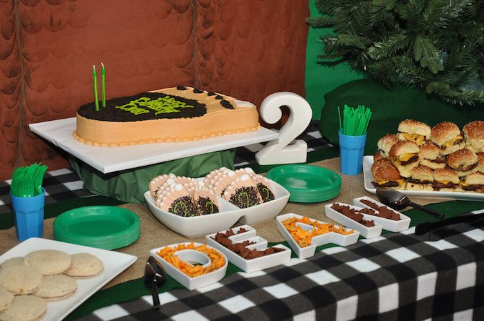 Bigfoot themed birthday party with Such Fun Ideas via Kara's Party Ideas   Cake, decor, cupcakes, favors, games, and MORE! KarasPartyIdeas.com #bigfoot #sasquatch #bigfootparty #partydecor #partyideas #partyplanner #eventplanner (11)