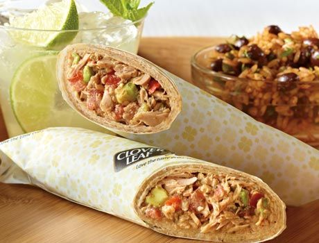 Hooked on Tuna Burrito. Did you know that take out burritos contain 1000 - 1200 calories? This lower calorie 'Hooked On Tuna Burrito' recipe is only 310 calories!