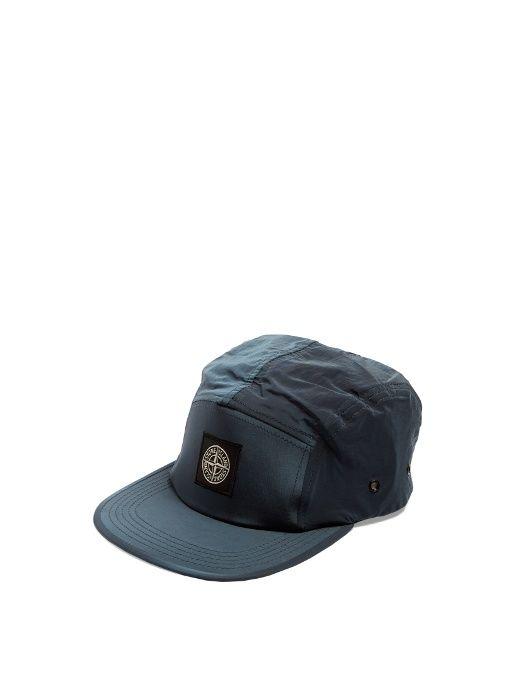 STONE ISLAND Logo-patch nylon cap. #stoneisland #cap