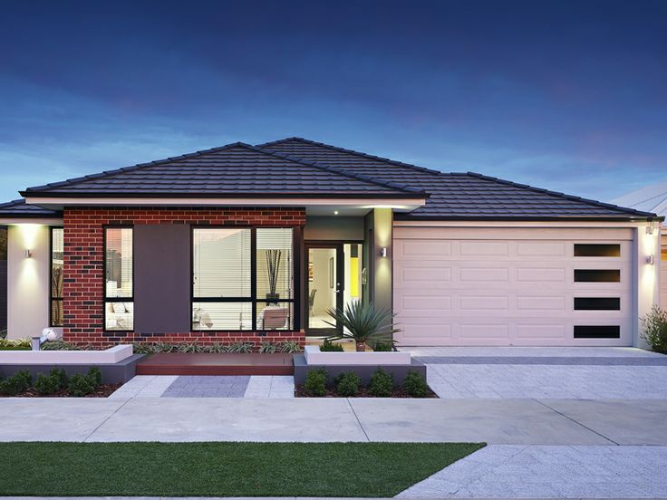39 the octave 39 elevation 17m frontage raised roof feature for Brick elevation design