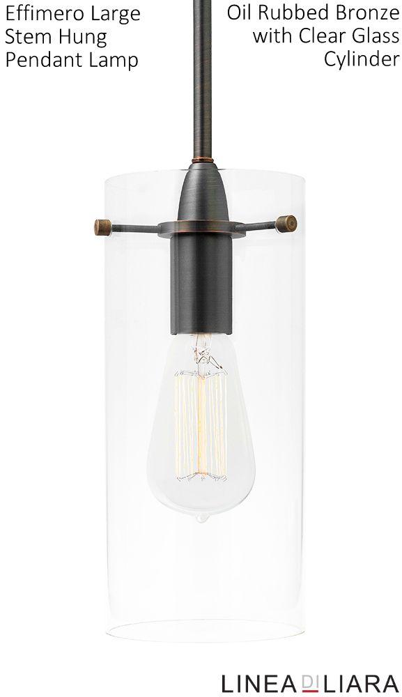 8 best Effimero Pendant Lamp-- LARGE Oil Rubbed Bronze/ Clear ...