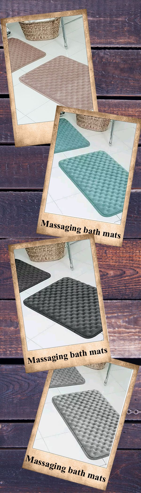 Includes 2 bath mats made of 100% polyester and filled with 100% polyurethane memory foam. Designed for ultimate comfort, these mats are ultra plush and made of anti-skid PVC backing. Available in Stripes or Bubbles in your choice of Brown, Gray, Light Blue, Teal, or Silver.