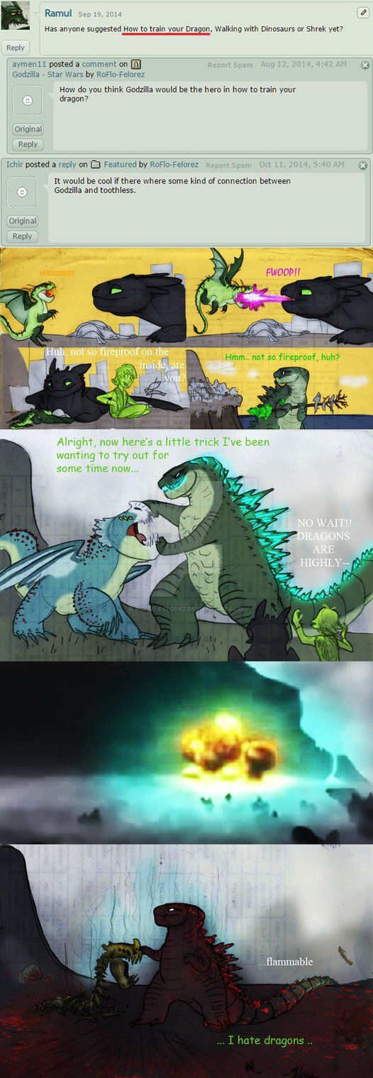 Godzilla - How to Train Your Dragon by RoFlo-Felorez.deviantart.com on @DeviantArt