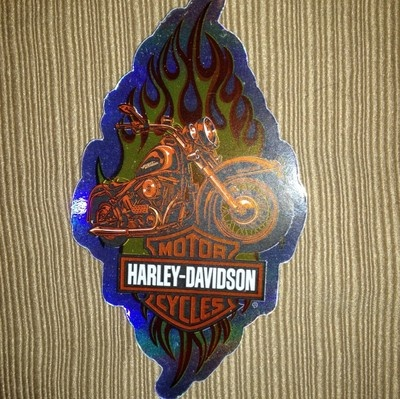 """You are buying one authentic Harley Davidson sticker decal.    The sticker measures approximately 3"""" x  4"""".         This sticker would go great on a motorcycle helmet, toolbox, locker or hard hat.      Please visit our store or email us for a price on bulk orders.    If you are not completely satisfied with your purchase please send back for a refund.      Thank you!"""