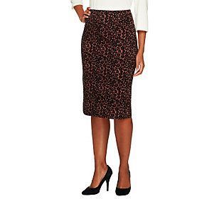 Women with Control Tummy Control Print or Solid Petite Skirt