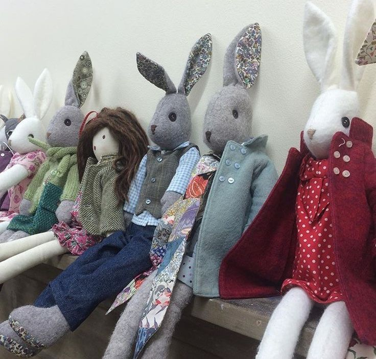 Collection of Luna Rabbits and Mae Dolls all ready for the shops