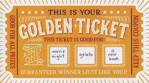 DIY Scratch Off - Golden Ticket