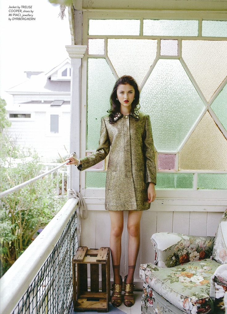 Remix magazine - Trelise Cooper Price Of Gold coat