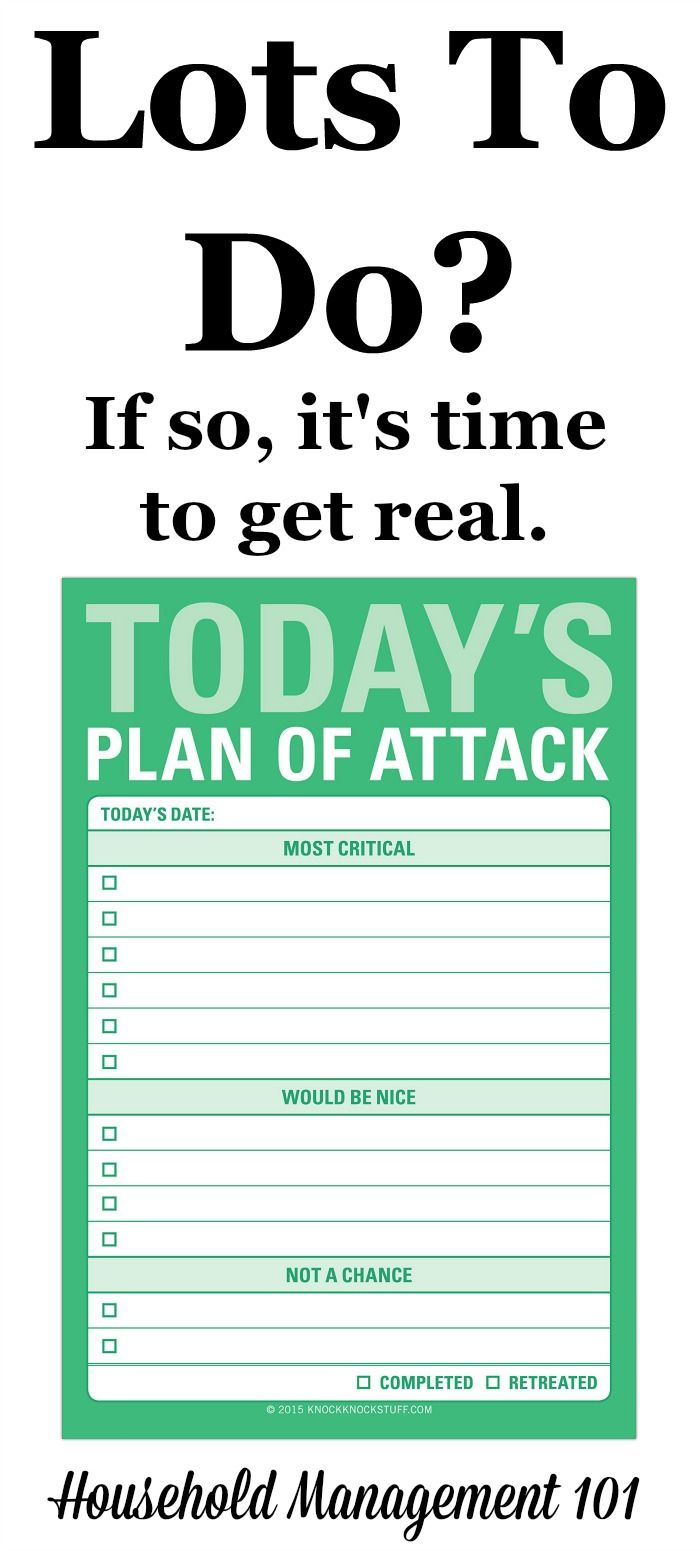 Do you have a lot to get done today? If so, you need to get realistic about what has to get done, and prioritize. Here's one way to do that.
