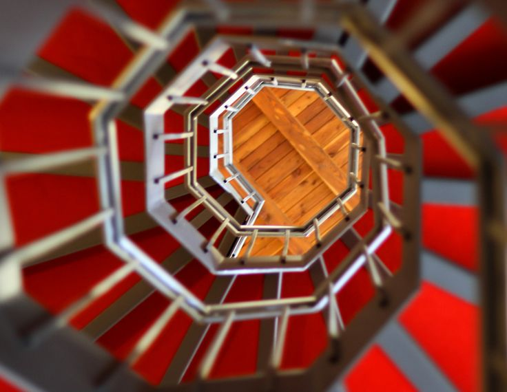 Best Steep Spiral Staircase With Red Carpet By Federico Candoni 400 x 300